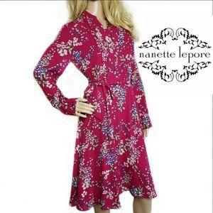 Nanette Lepore NWT floral long sleeve dress size 6